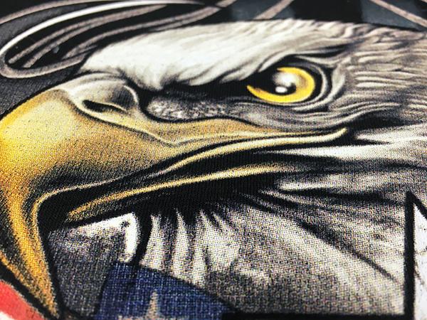 Screen Printing halftone DTG Closeup