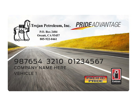 Example of PrideAdvantage Card