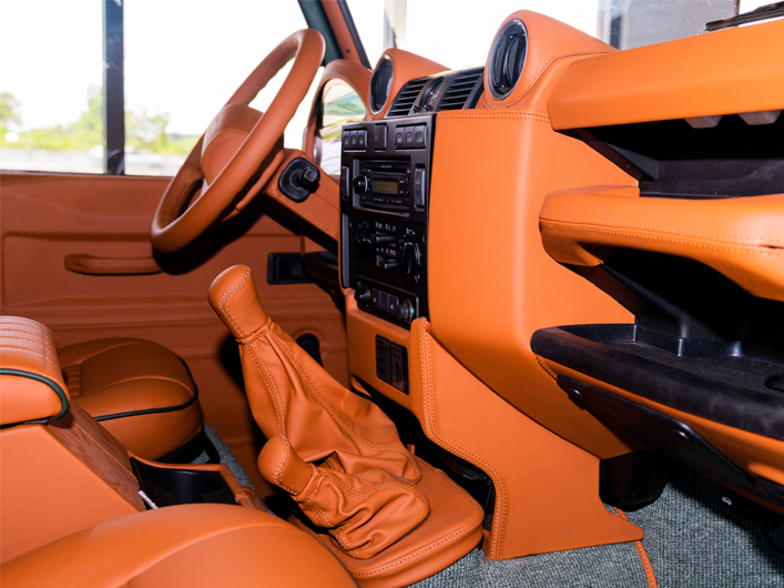Interior Leather of Defender