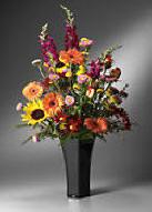 10 Inch Rose Vase Black DL44BLK Image