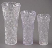 Cut Crystal Look Vase Image