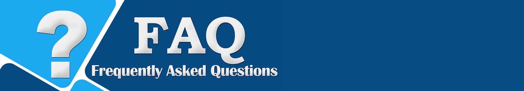 FAQ header banner