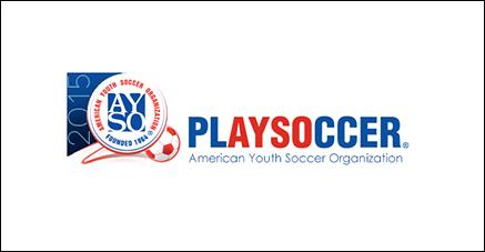 AYSO play soccer logo