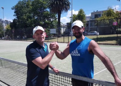 Peter and Cal, Melbourne Inner City Tennis League