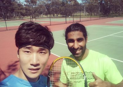 Youngmin and Arya, Adelaide West Tennis League