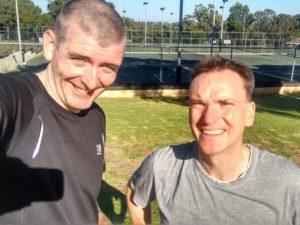 David and John, Perth North Tennis League