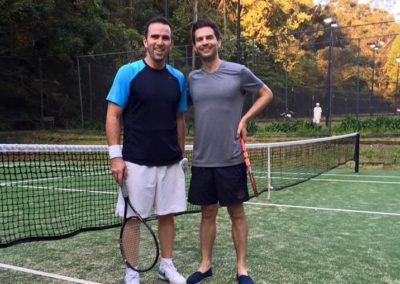 Brett and Dennis, Sydney Eastern Suburbs Tennis League