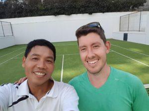 Eddie and Euan, Perth North Tennis League