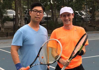 Dae-Jun and Stuart, Sydney North Shore Tennis League