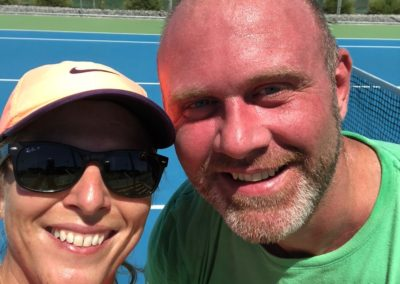 Karen and Russell, Perth North Tennis League