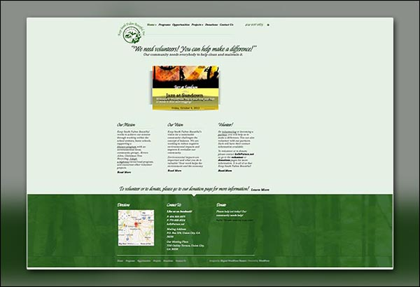 Keep South Fulton Beautiful Website Design by Vibrant Web Creations in Atlanta GA