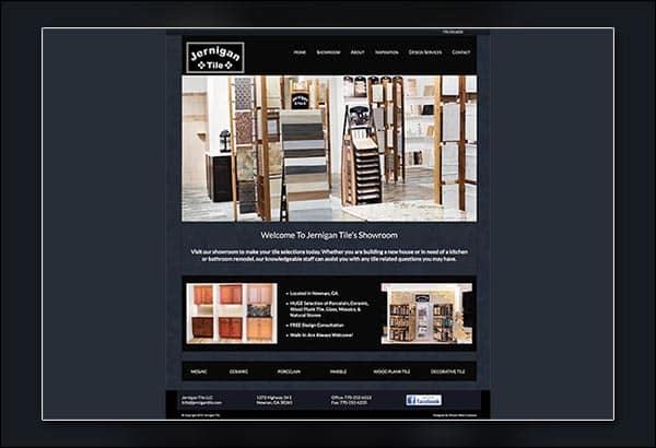 Jernigan Tile Newnan Website Design by Vibrant Web Creations