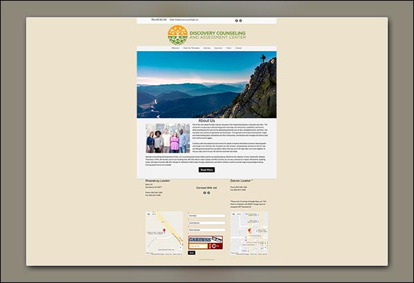 Discovery Counseling Web Design by Vibrant Web Creations