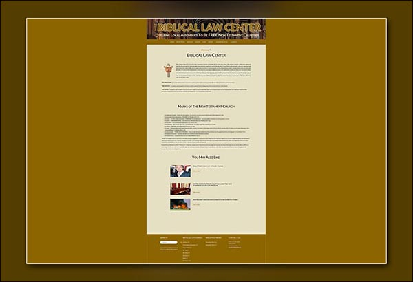 Biblical Law Website Design by Vibrant Web Creations in Atlanta Georgia