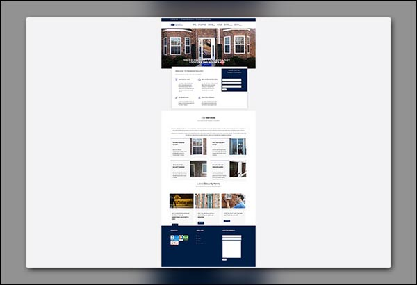 Medallion Security Website Design in Peachtree City GA by Vibrant Web Creations