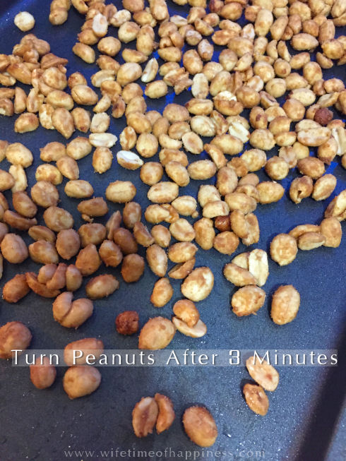 candied peanuts in the oven