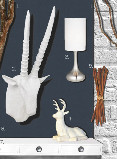 Get the Look {White Faux Taxidermy}