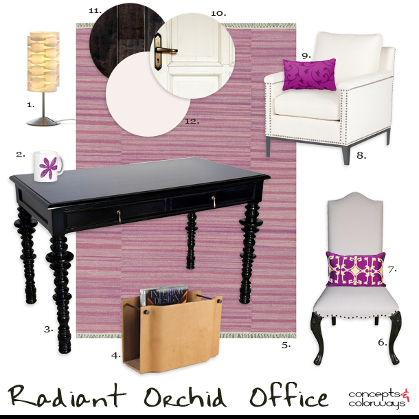Get the Look {Radiant Orchid Office}