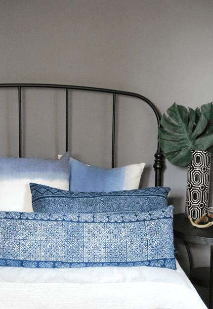 tribal hand print batik pillow