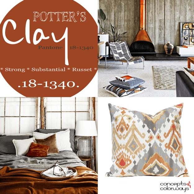 pantone potter's clay used in interior design