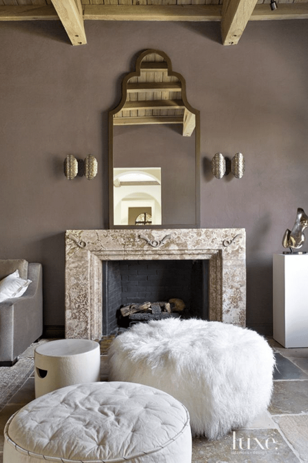 sherwin williams poised taupe living room