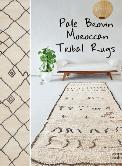 PALE BROWN MOROCCAN TRIBAL RUGS