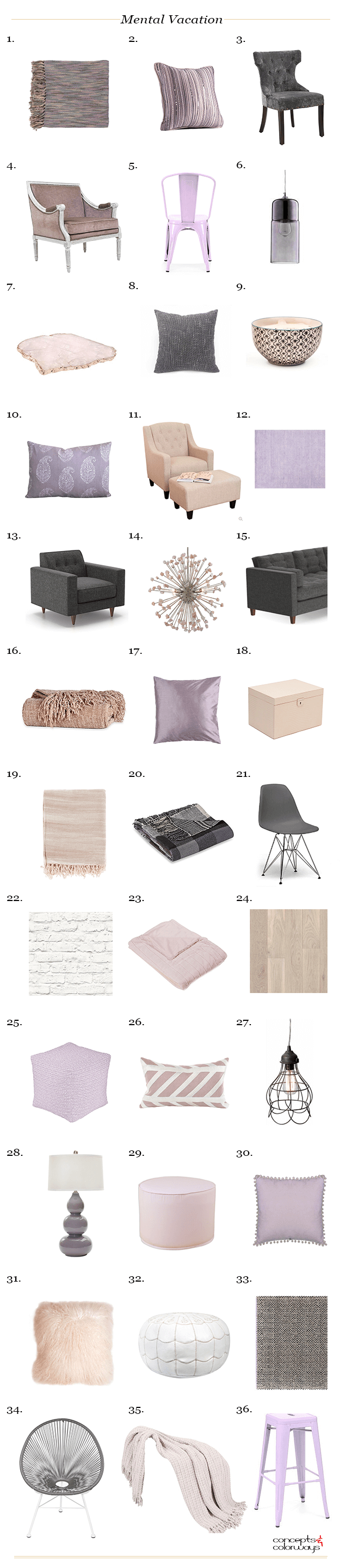 mental vacation interior design product roundup