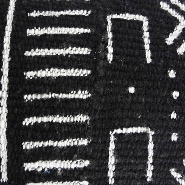 black and white mudcloth fabric closeup