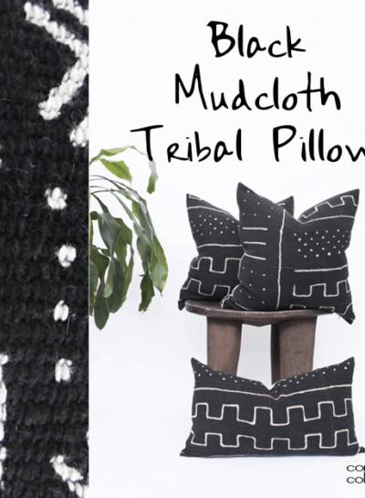 BLACK MUDCLOTH TRIBAL PILLOWS