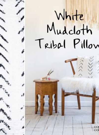 WHITE MUDCLOTH TRIBAL PILLOWS