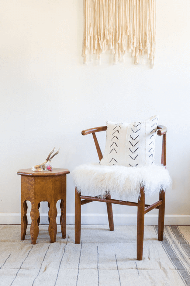 white african mudcloth tribal pillow