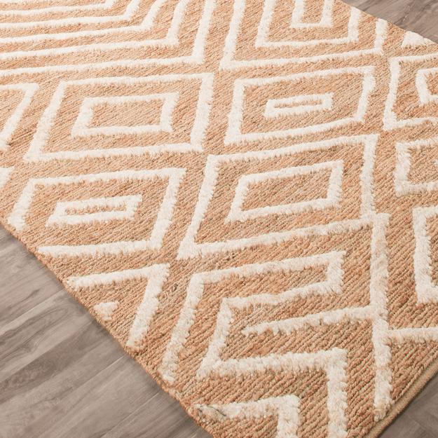 copper brown patterned rug