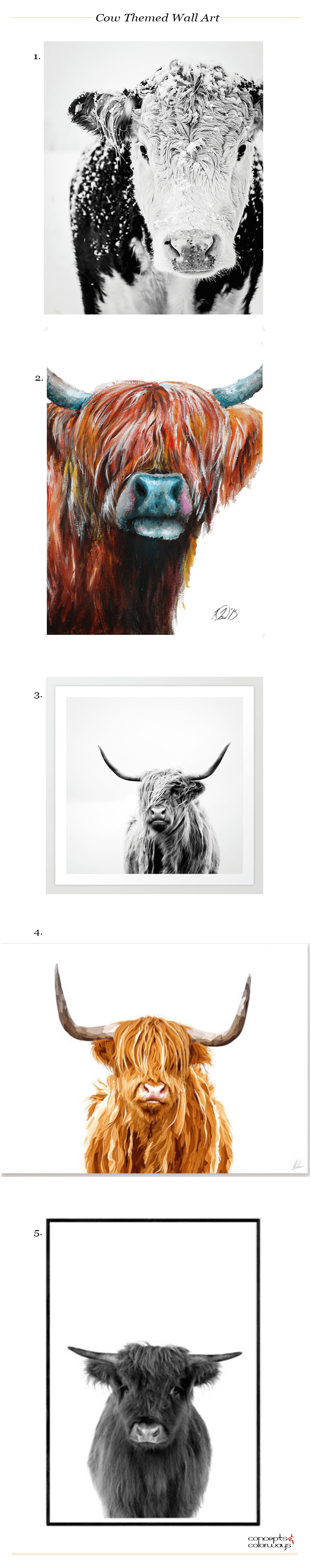 cow themed wall art product roundup