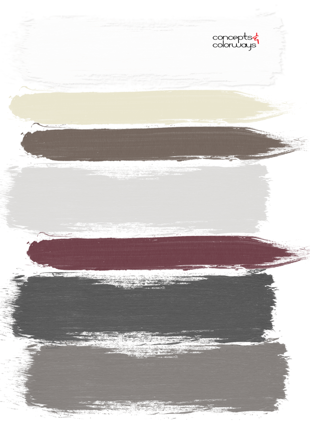burgundy sprout paint palette