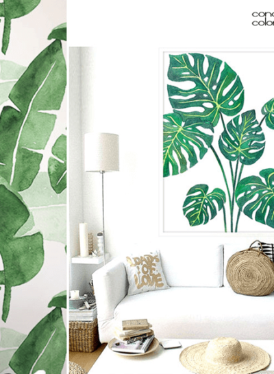 PALM FRONDS AND BANANA LEAF TROPICAL PRINTS