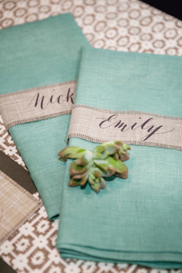light teal cloth napkins