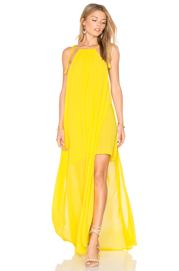 bright yellow maxi dress