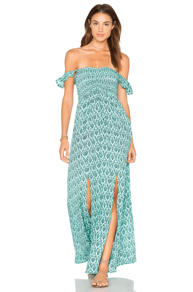 teal maxi dress