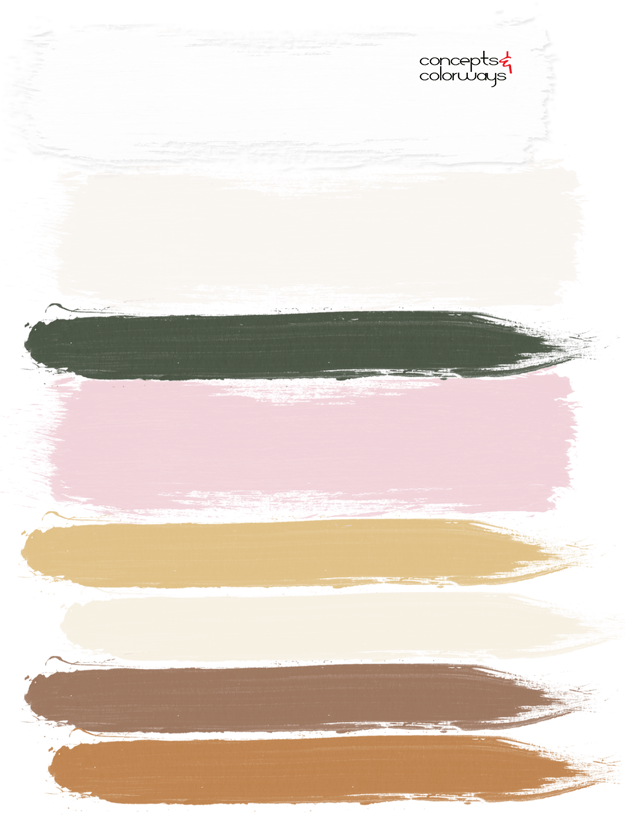 pink and white paint palette