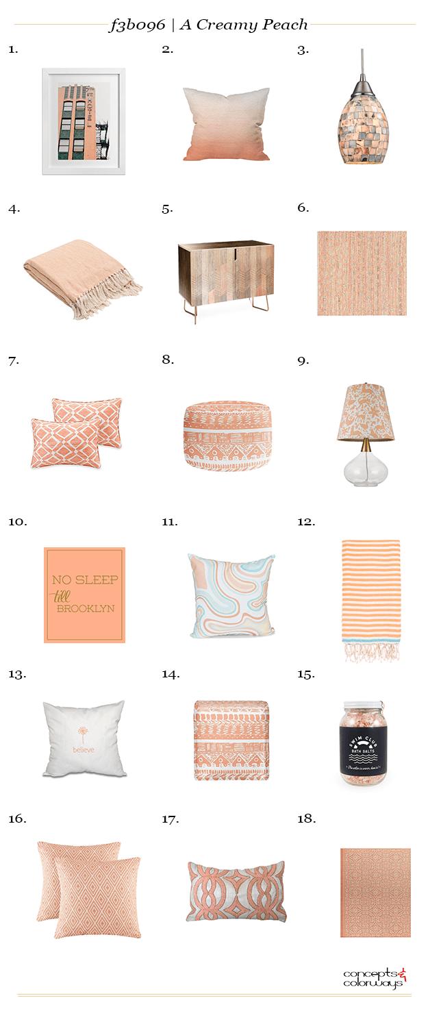 peach interior design product roundup