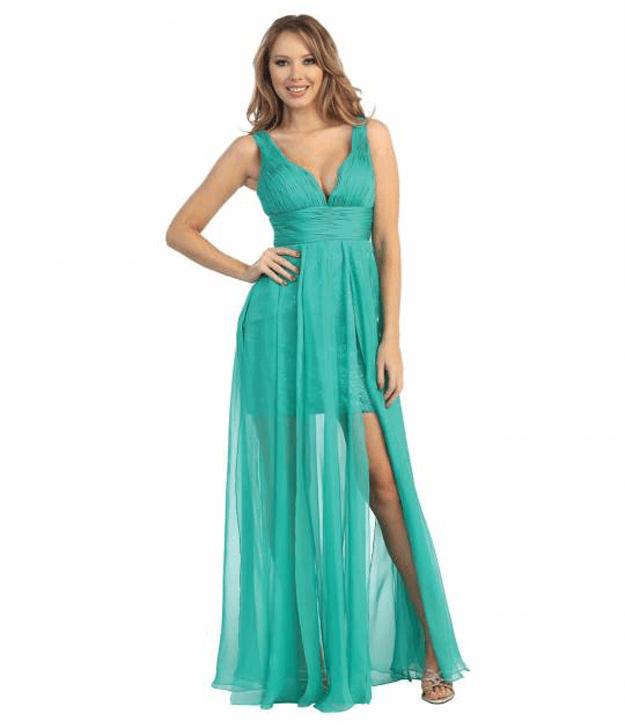 jade green prom dress