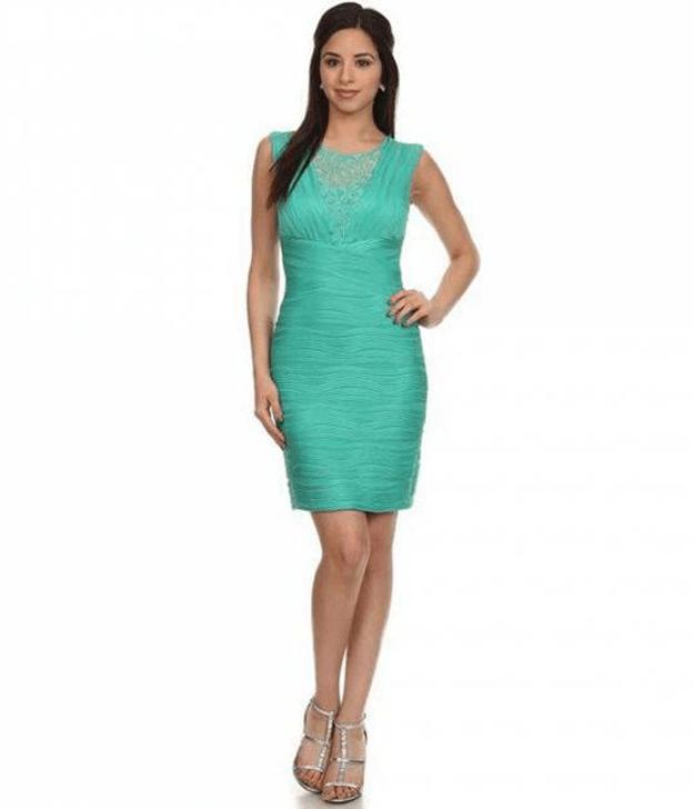 jade green party dress