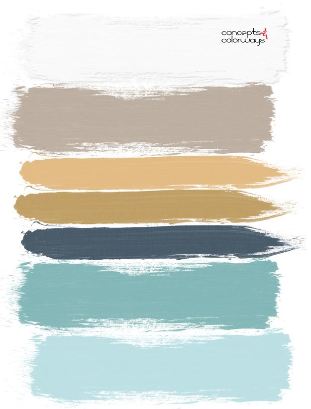 绿松石和金色的调色板