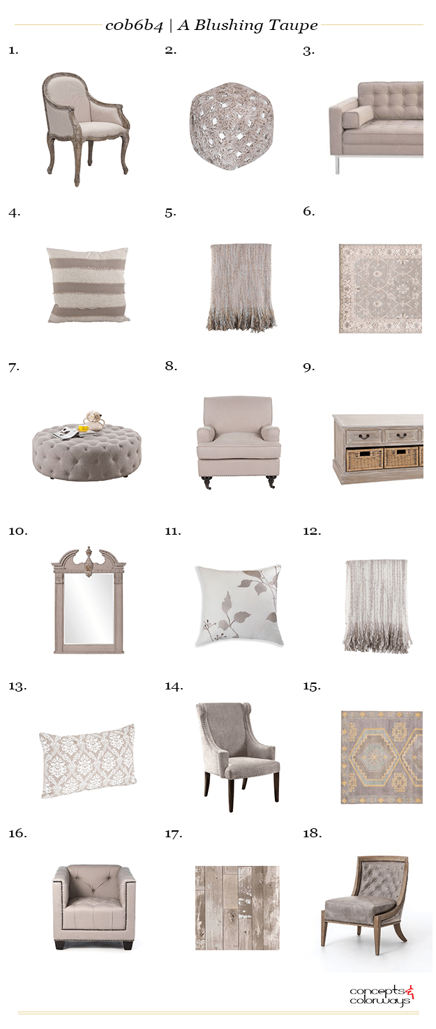 taupe interior design product roundup