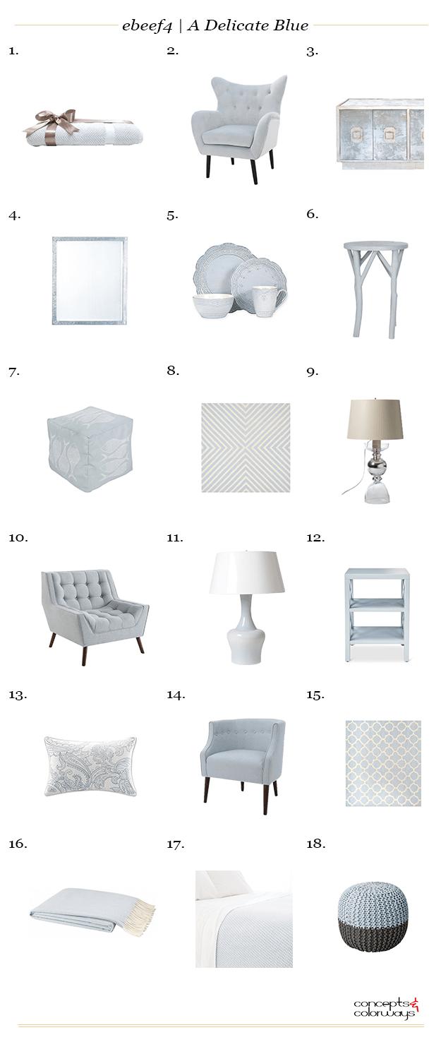 pale blue interior design product roundup