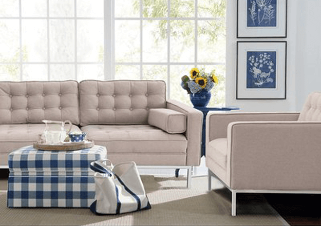 taupe modern sofa