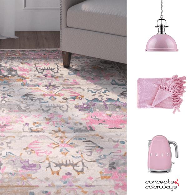 pantone pink lavender interior design color trend