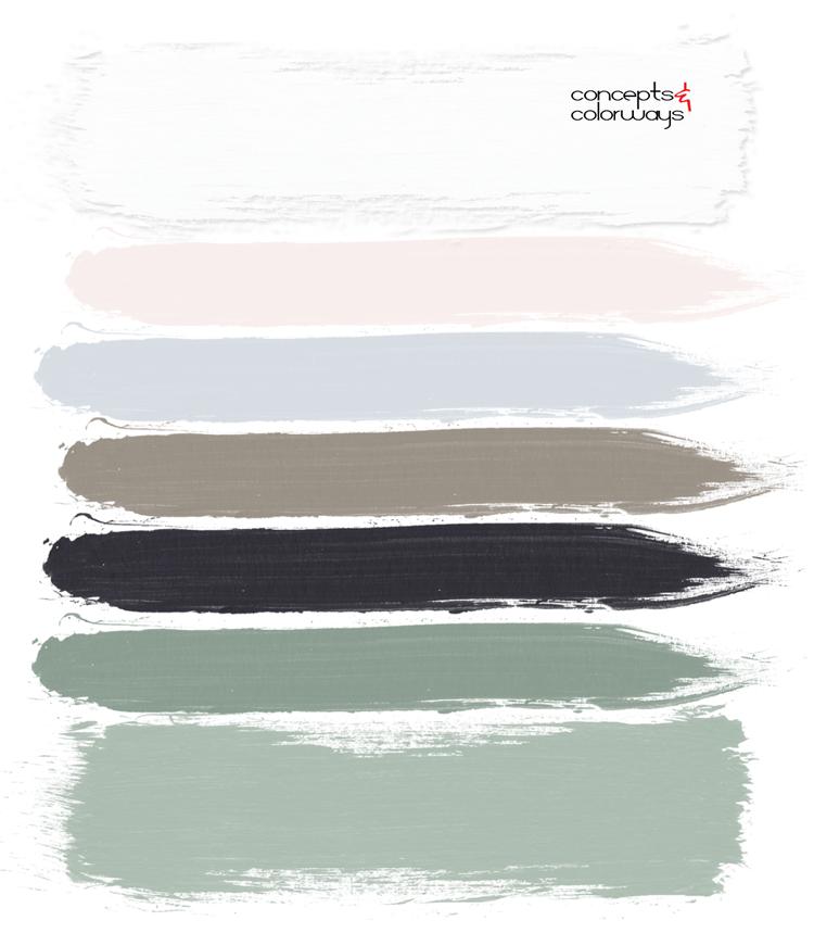 pastel color palette, blush pink, pale pink, dove gray, grayish brown, sage green, wedding color palette, black, white, pantone harbor mist