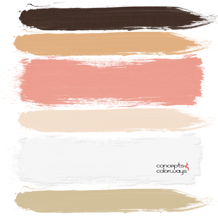 coral dress paint palette