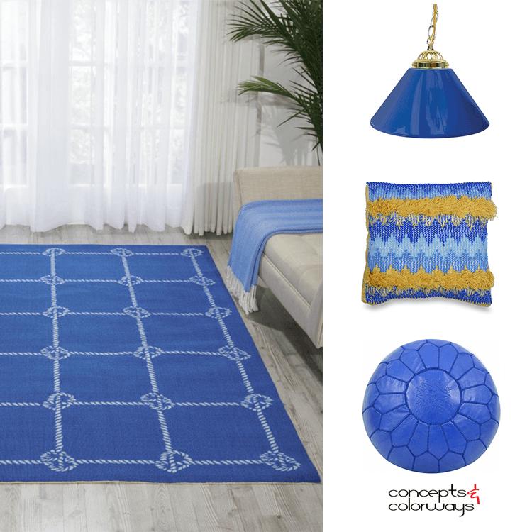 palace blue, pantone palace blue, blue decor, royal blue home decor, royal blue, bright blue, bright blue decor